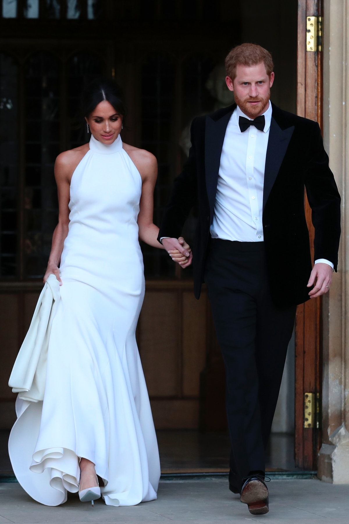 Meghan Markle wore a halter neck dress from Stella McCartney for the reception of her wedding in May...