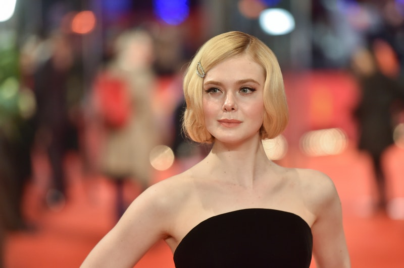 Elle Fanning tested out some colorful makeup and shared it on Instagram.