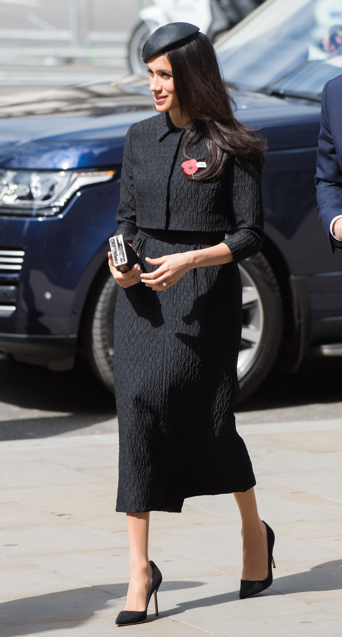 Meghan Markle wore a two-piece set from Emilia Wickstead in April 2018.