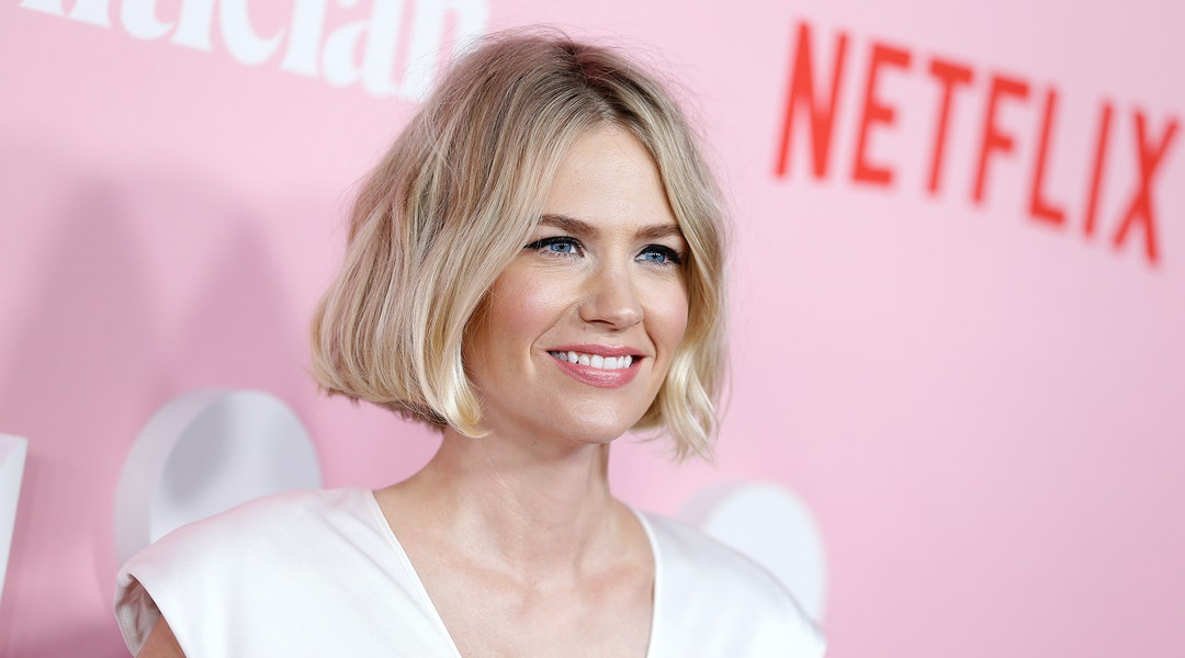 January Jones' haircare routine is surprisingly natural and fuss-free