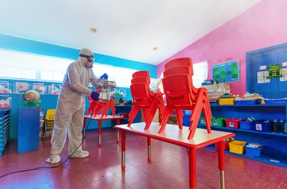 Increased cleaning procedures is one thing to consider as you prepare you child for the new normal at day care.