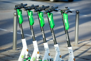 Lime scooters. Data that Los Angeles collects about their usage is at the heart of a new lawsuit.