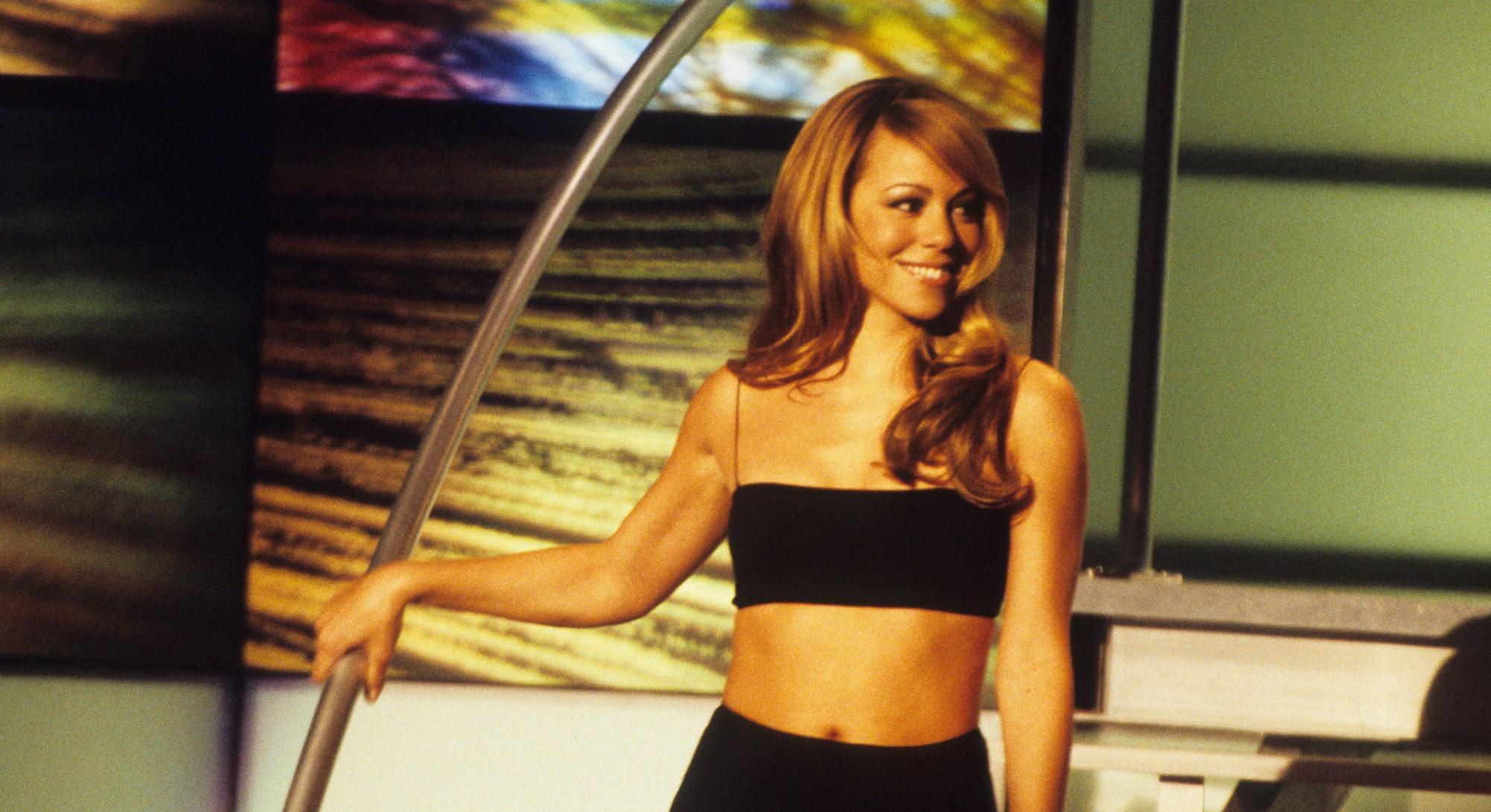 Mariah Carey en una pose simpática