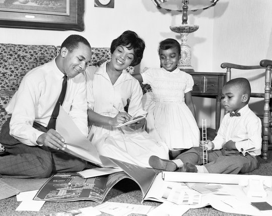 vintage photo of a black family