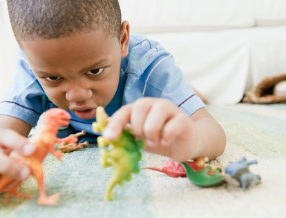Experts say children really start playing pretend around age 2, but their creativity builds and their play changes as they grow.