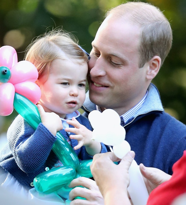 Prince William proved to be a hands-on dad right out of the gate.