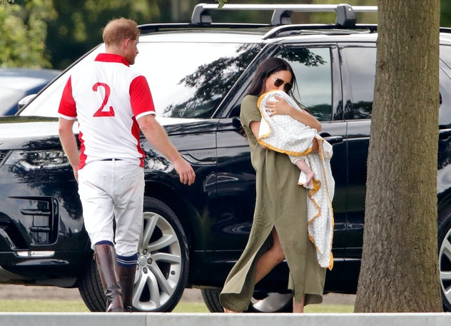 Meghan Markle brought Archie to cheer for his dad at a polo match in July 2019.
