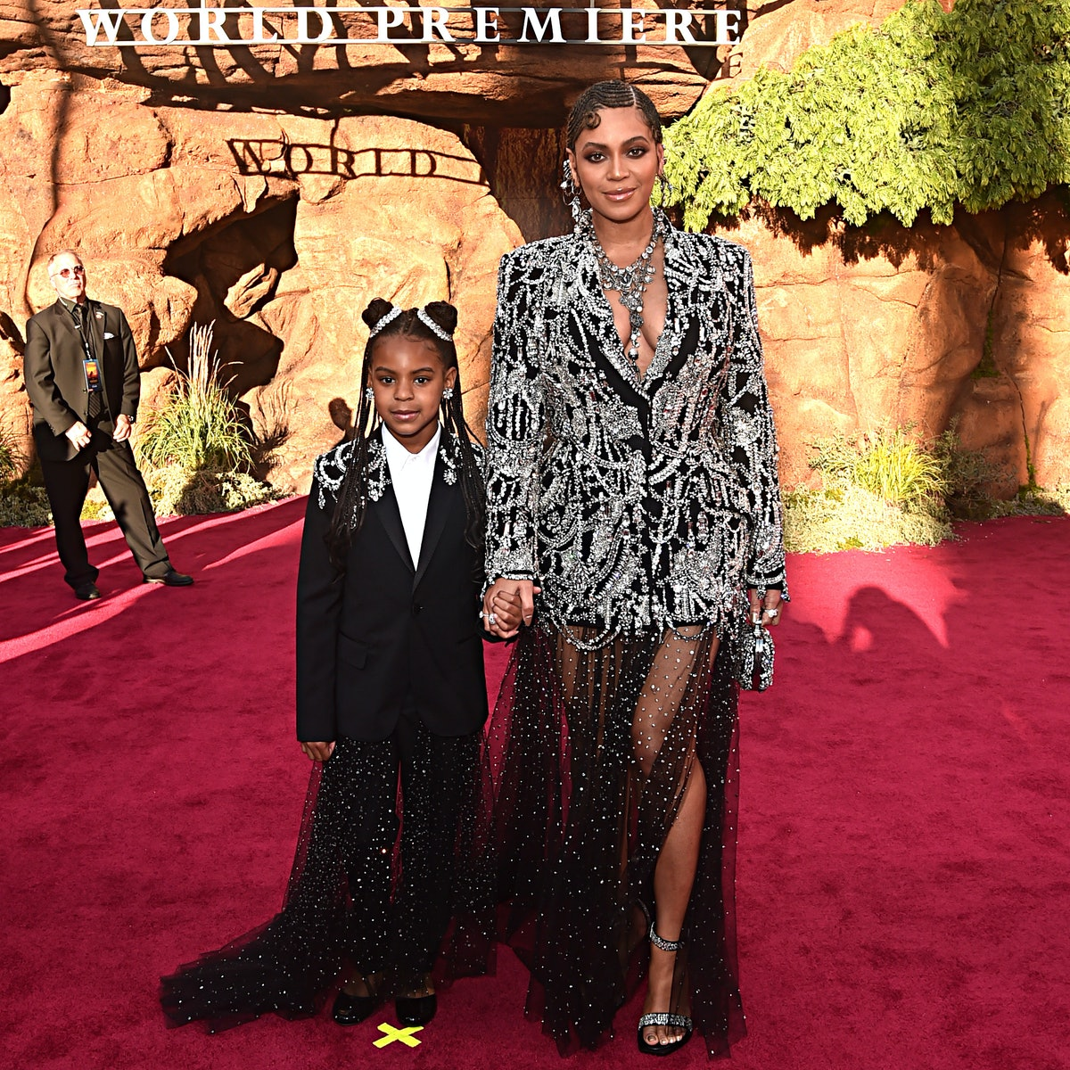 Blue Ivy and Beyonce attend the premiere of 'The Lion King: The Gift.'