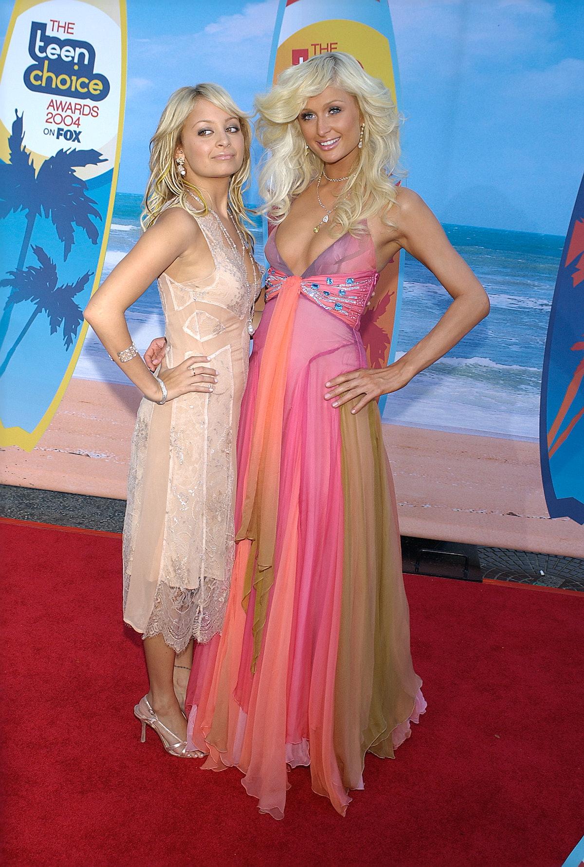 Nicole Richie and Paris Hilton attend the KCAs.