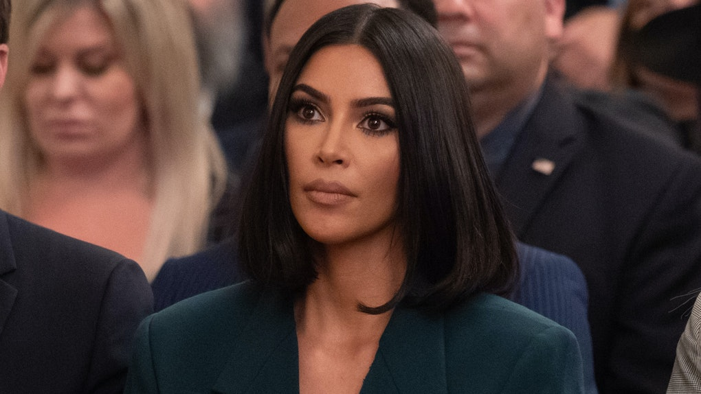 Kim Kardashian attends a meeting with Donald Trump on criminal justice reform.
