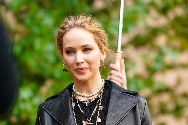Jennifer Lawrence steps out in an all-black ensemble.