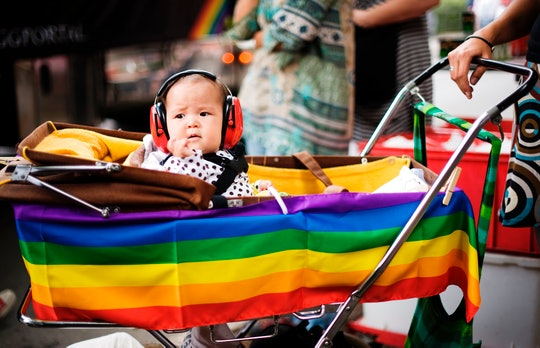 Parents and children have made their support known at pride festivals around the world throughout th...