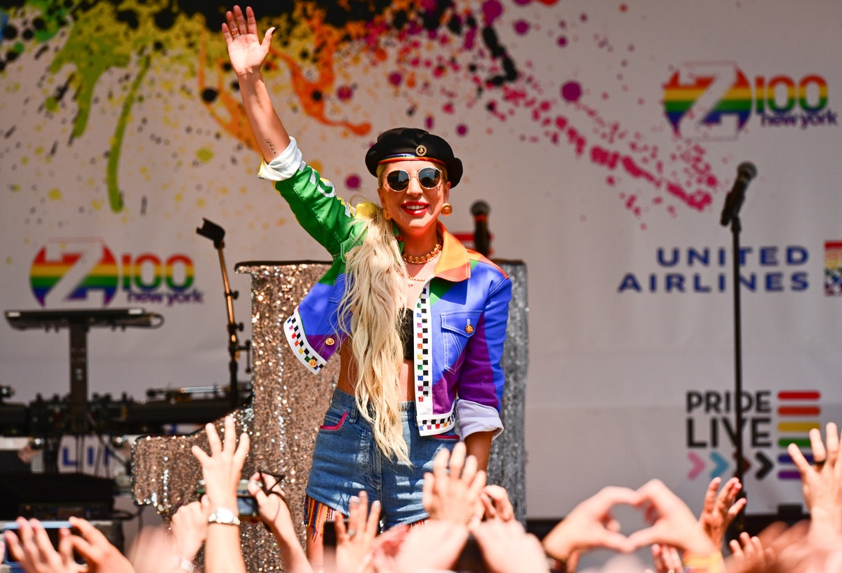Lady Gaga attends the Stonewall Pride Event in June 2019.