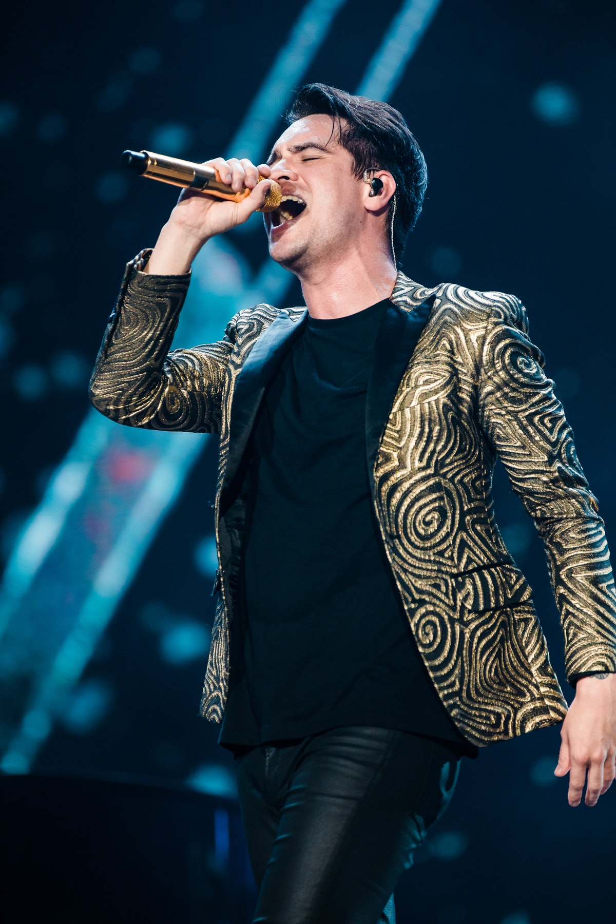 Brendon Urie hits the stage.
