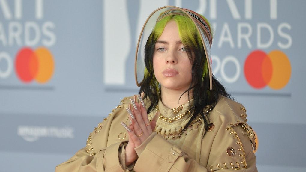 Billie Eilish attends the Brit Awards.