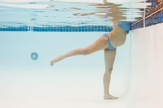 Swimming can't induce labor, but it can be beneficial for pregnancy.