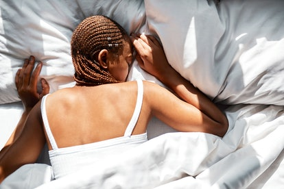 A woman sleeps. Over-reliance on technology such as sleep apps can make people anxious about their rest and unable to sleep, experts say.