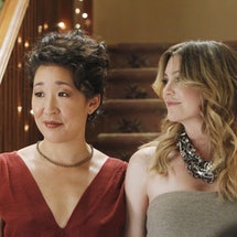 "Sandra Oh and Ellen Pompeo in ""Grey's Anatomy"""