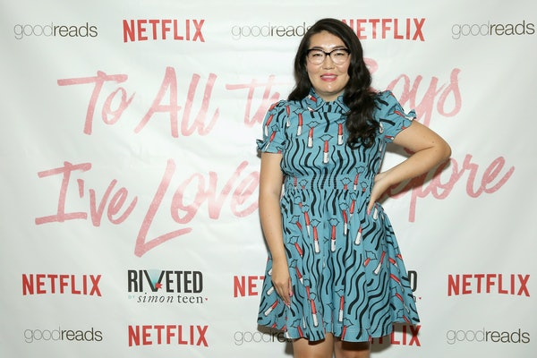 Jenny Han smiles on the red carpet of the 'To All The Boys I've Loved Before' premiere.