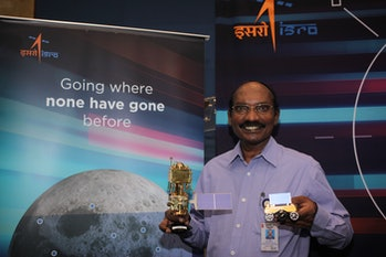 ISRO chief K. Sivan preparing for the launch of Chandrayaan-2.