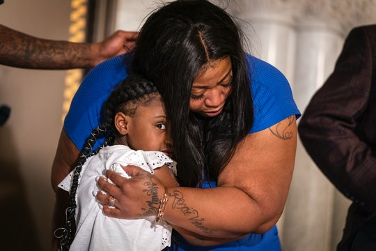 Roxie Washington, the mother of George Floyd's 6-year-old daughter addressed the nation on Tuesday, ...