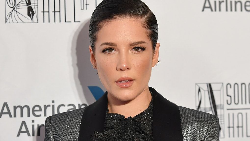 Halsey hits the Songwriters Hall of Fame red carpet.