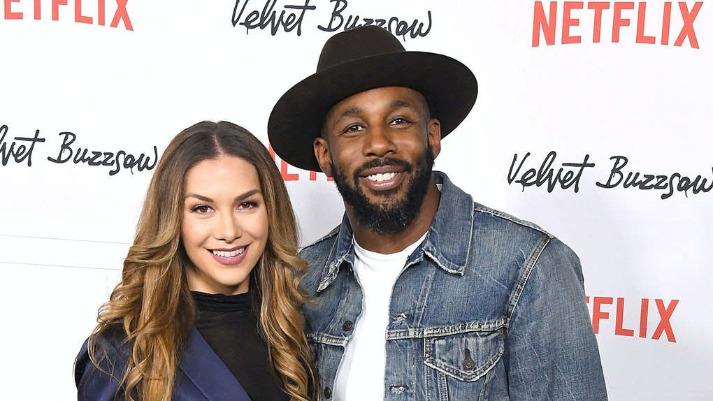 tWitch and Allison Holker attend a Netflix premiere.