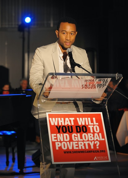 John Legend speaks at an event for the Show Me Campaign.