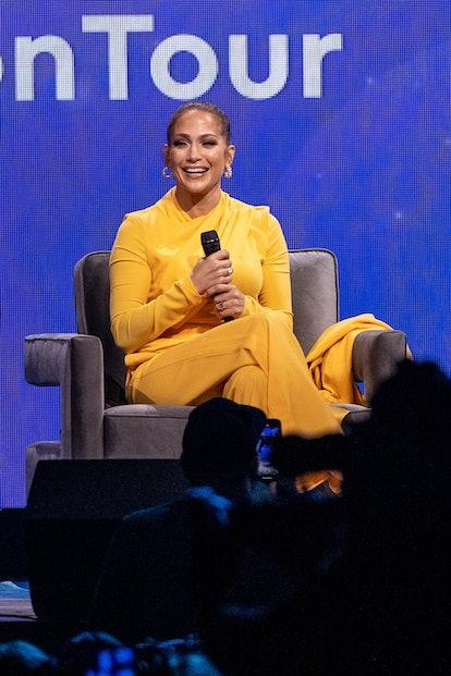 Jennifer Lopez speaks live on-stage.
