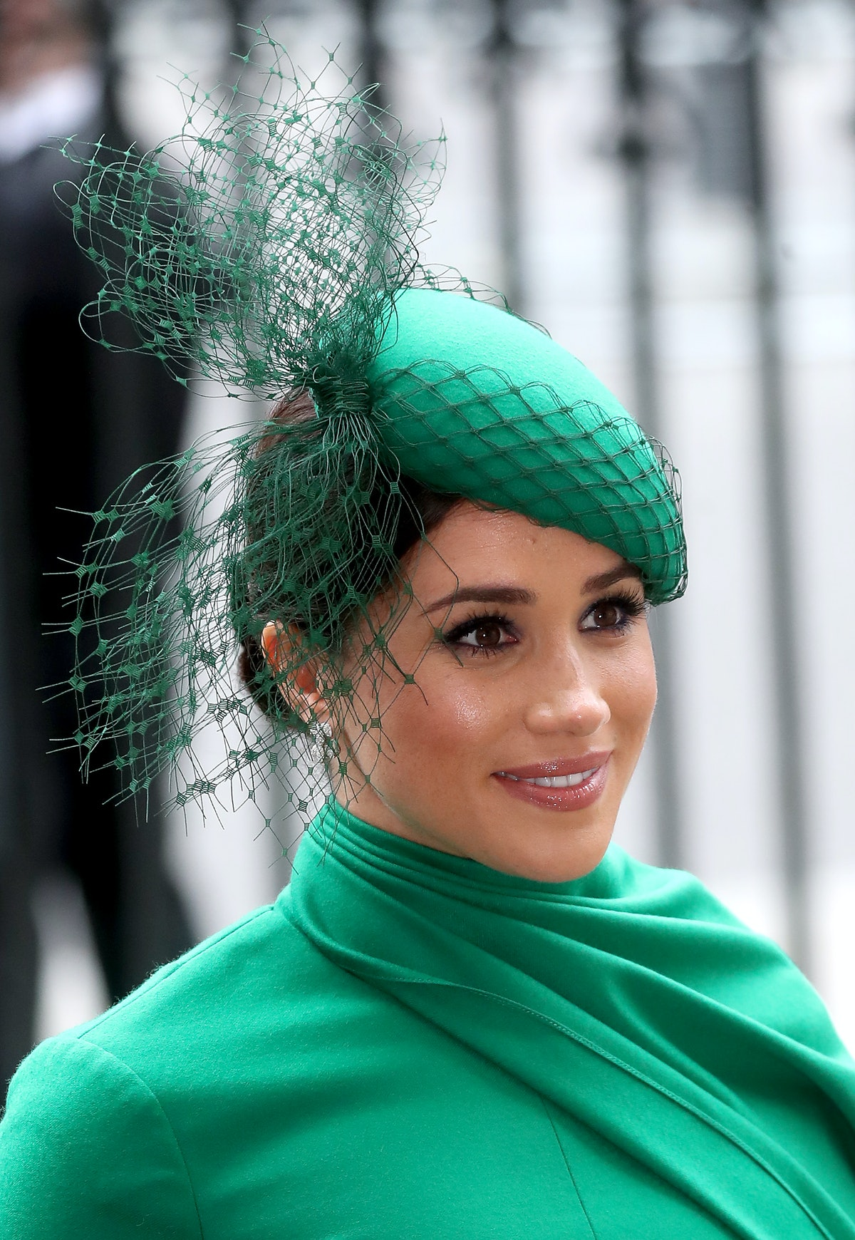 Meghan Markle steps out in an all-green ensemble.