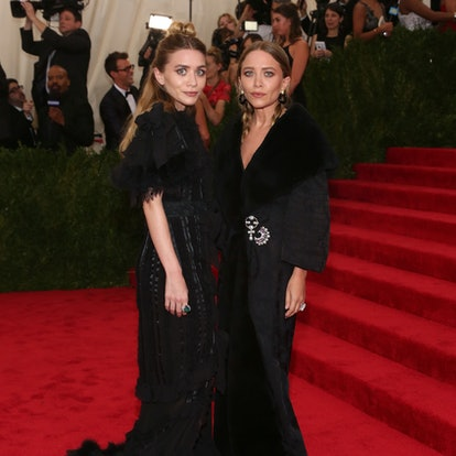 """Actors Mary-Kate and Ashley Olsen attend """"China: Through the Looking Glass"""", the 2015 Costume Institute Gala, at Metropolitan Museum of Art on May 4, 2015 in New York City."""