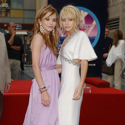Mary-Kate Olsen and Ashley Olsen during Mary-Kate Olsen and Ashley Olsen Honored with a Star on the Hollywood Walk of Fame for Their Achievements in Television at Hollywood Boulevard in Hollywood, California, United State