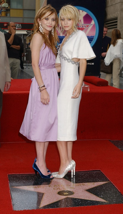 Mary-Kate Olsen and Ashley Olsen during Mary-Kate Olsen and Ashley Olsen Honored with a Star on the ...