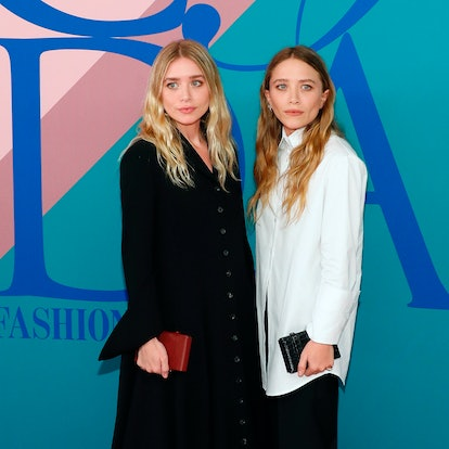 Ashley and Mary-Kate Olsen attend the 2017 CFDA Fashion Awards at Hammerstein Ballroom on June 5, 2017 in New York City. (