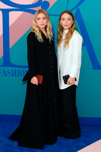 Ashley and Mary-Kate Olsen attend the 2017 CFDA Fashion Awards at Hammerstein Ballroom on June 5, 20...