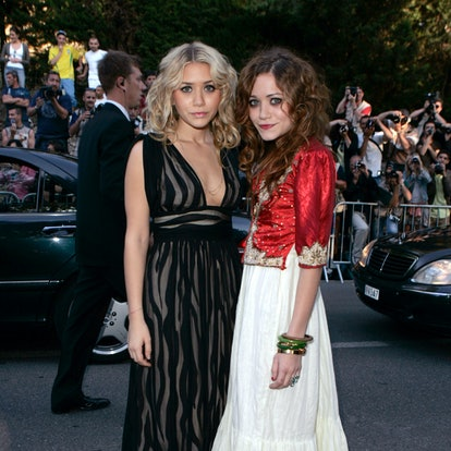 """Ashley Olsen and Mary-Kate Olsen during amfAR """"Cinema Against AIDS"""" Gala Presented by Miramax Films, Palisades Pictures and Quintessentially - Red Carpet at Le Moulins de Mougins in Mougins, France."""