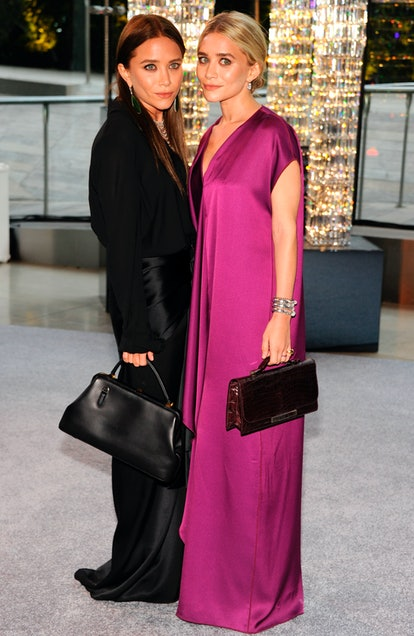 Mary-Kate Olsen and Ashley Olsen attend 2012 CFDA Fashion Awards at Alice Tully Hall on June 4, 2012...