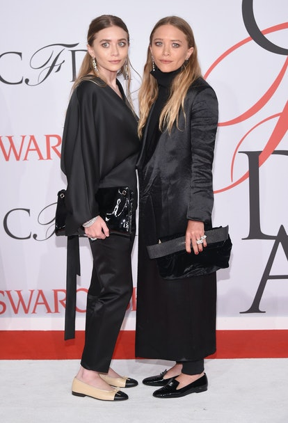 Ashley Olsen and Mary-Kate Olsen attend the 2015 CFDA Fashion Awards at Alice Tully Hall at Lincoln ...