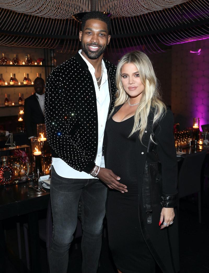 Khloe Kardashian praised Tristan Thompson's co-parenting.