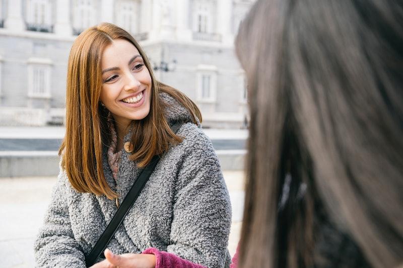 friends, talking, women