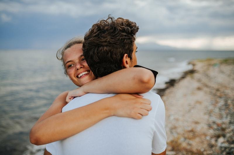 couple, hugging