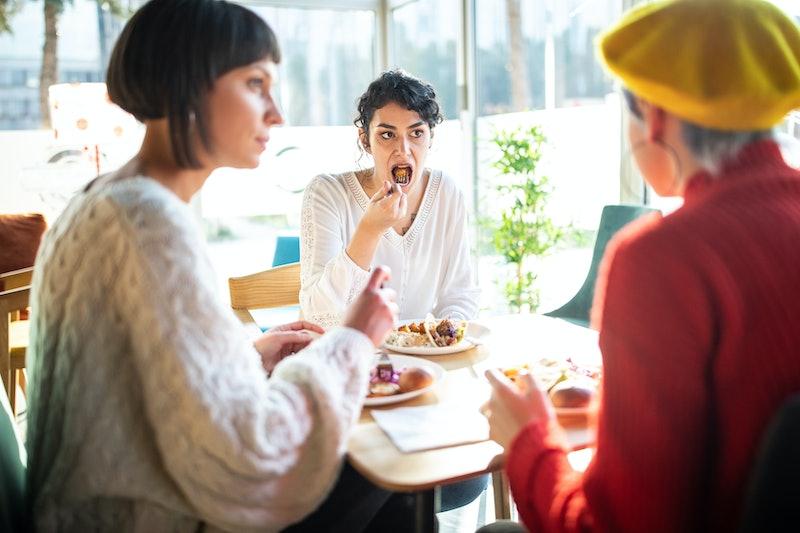 friends, lunch, food