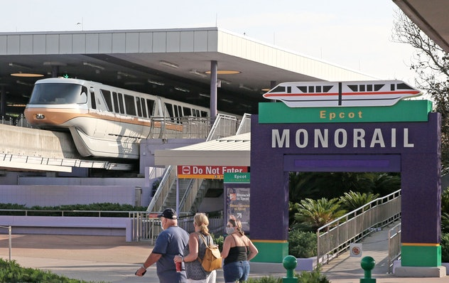 The monorail still takes guests through the Disney parks.