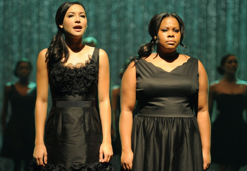 Naya Rivera, Amber Riley, 'glee'