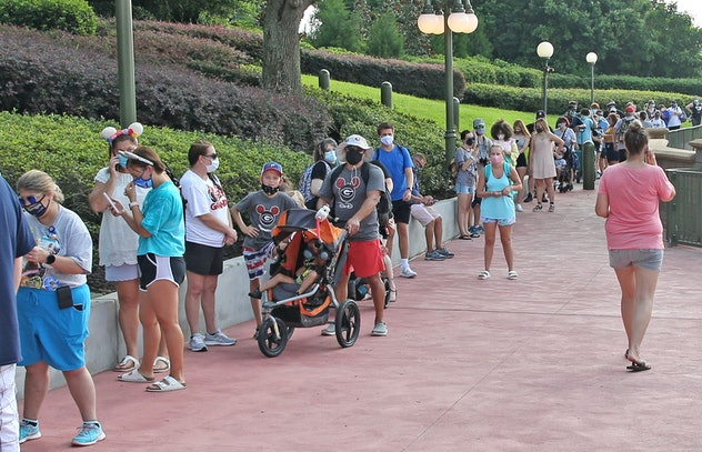 Guests all wore protective face masks at Disney.