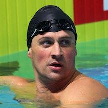 Ryan Lochte in the pool