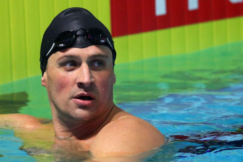 Ryan Lochte in the pool