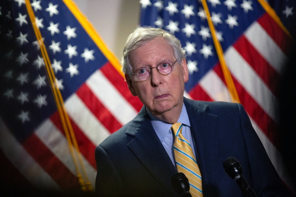 Mitch McConnell, the Senate Majority Leader, is playing defense for maintain a Republican majority.