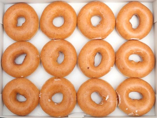 Krispy Kreme celebrates its birthday with free donuts.