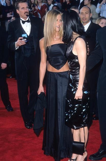 Jennifer Aniston wearing a daring look at the 1999 SAG Awards.